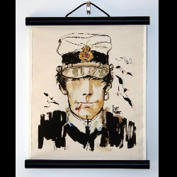Hugo Pratt, Corto Maltese : Serigraph on linen canvas, Jeunesse