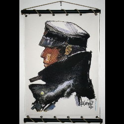 Hugo Pratt, Corto Maltese : Serigraph on linen canvas, Le Maltais