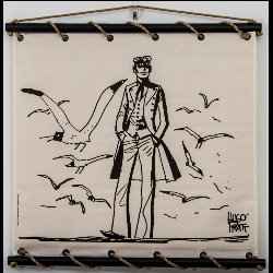 Hugo Pratt, Corto Maltese : Serigraph on linen canvas, Mer du Nord