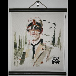 Hugo Pratt, Corto Maltese : Serigraph on linen canvas, Milano