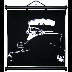 Hugo Pratt, Corto Maltese : Serigraph on linen canvas, Nocturne, Profile