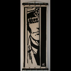 Hugo Pratt, Corto Maltese : Serigraph on linen canvas, Observateur