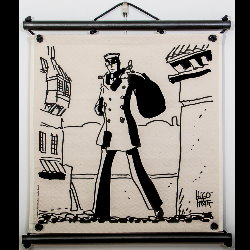 Hugo Pratt, Corto Maltese : Serigraph on linen canvas, Partir