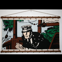 Hugo Pratt, Corto Maltese : Serigrafía sobre tela, Port Ducal (color)