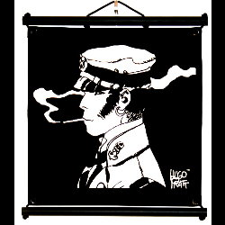 Hugo Pratt, Corto Maltese : Serigraph on linen canvas, Rencontre