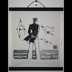 Hugo Pratt, Corto Maltese : Serigraph on linen canvas, Rendez-vous