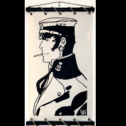 Hugo Pratt, Corto Maltese : Serigraph on linen canvas, Samarkand