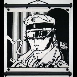 Hugo Pratt, Corto Maltese : Serigraph on linen canvas, Sibérie