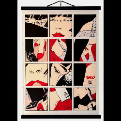 Hugo Pratt, Corto Maltese : Serigraph on linen canvas, Tango