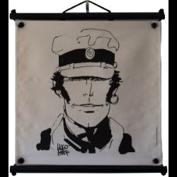 Hugo Pratt, Corto Maltese : Serigraph on linen canvas, Visage