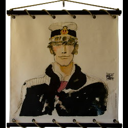Hugo Pratt, Corto Maltese : Serigraph on linen canvas