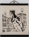 Corto Maltese serigraph on canvas, Cannaregio
