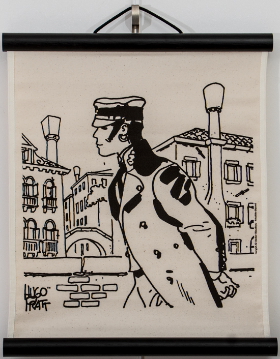 Hugo Pratt serigraph on decorative wall panel - Corto Maltese, Cannaregio