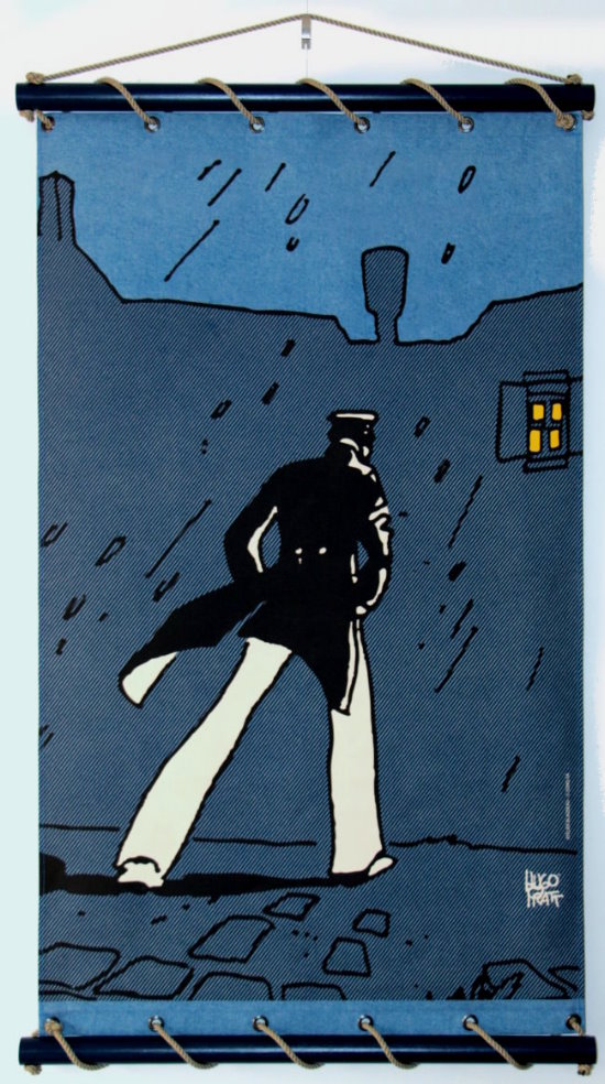 Hugo Pratt serigraph on decorative wall panel - Corto Maltese, Corto à Venise