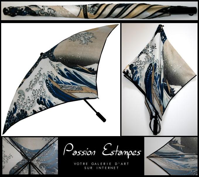 el paraguas cuadrado y art stico hokusai la gran ola de kanagawa. Black Bedroom Furniture Sets. Home Design Ideas