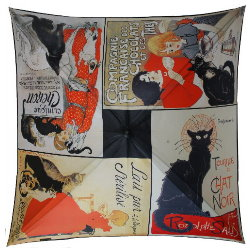 Steinlen umbrella : Clinique Cheron, Black Cat Tour