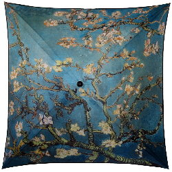 Van Gogh umbrella : Branches of almond-tree in bloom