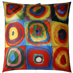 Kandinsky umbrella : Squares and concentric circles
