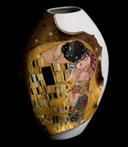 Gustav Klimt porcelaine Vase : The kiss
