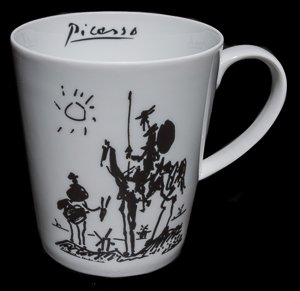 Tazza in porcellana Pablo Picasso, Don Quichotte