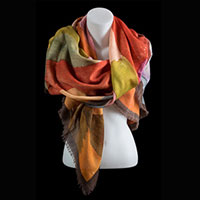 Silk scarves, squares and stoles