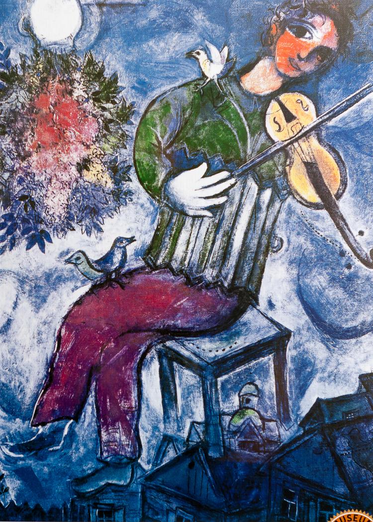 Marc Chagall Le Violoniste Bleu Art