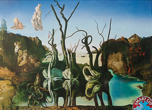 Puzzle Salvador Dali : Swans reflecting Elephants