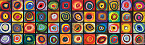 Puzzle Kandinsky : Color study of squares (Panoramico)