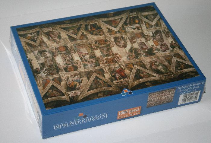 Puzzle d 39 art 1000 pi ces michel ange le plafond de la - Michel ange le plafond de la chapelle sixtine ...
