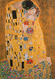 Gustav Klimt puzzle : The kiss
