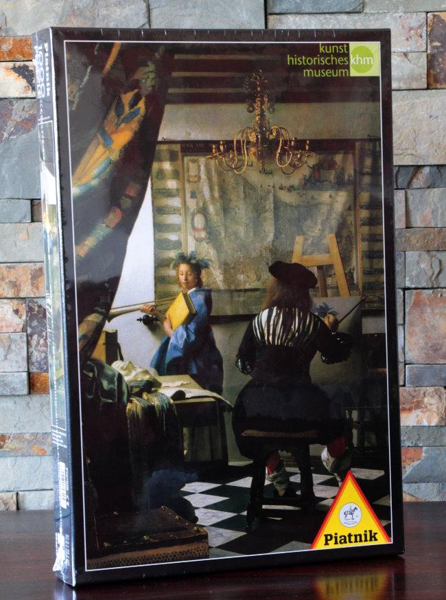 puzzle jan vermeer l 39 atelier de l 39 artiste piatnik. Black Bedroom Furniture Sets. Home Design Ideas