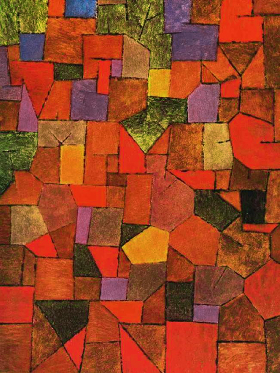 Paul Klee : Mountain village Autumnal