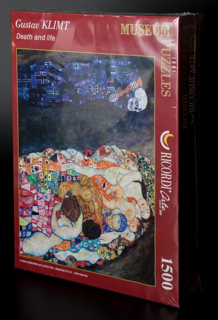 Puzzle d 39 art 1500 pices gustav klimt la vie et la mort for Biographie de klimt