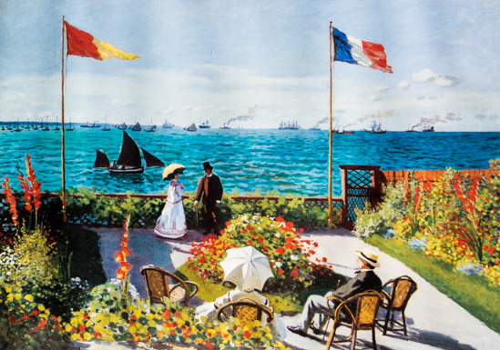 Claude Monet : Garden at Sainte-Adresse