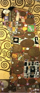 Puzzle Gustav Klimt : L'accomplissement (Fulfilment) (panoramique)