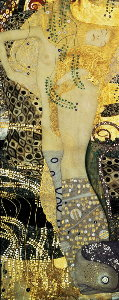 Puzzle Gustav Klimt : Sea Serpent II (panoramique)