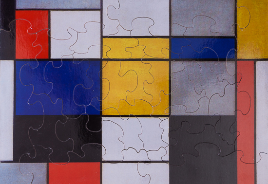 Piet Mondrian wooden puzzle for kids : Composition 123