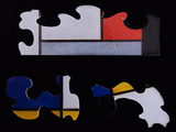 Puzzle for kids : wooden pieces : Piet Mondrian : Composition 123