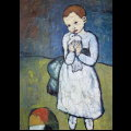 Pablo Picasso wooden puzzle for kids : Child with a Dove