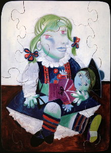 Jigsaw puzzles for Kids Pablo Picasso : Maya with the doll