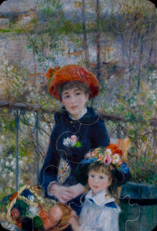 Renoir wooden puzzle for kids : Two sisters