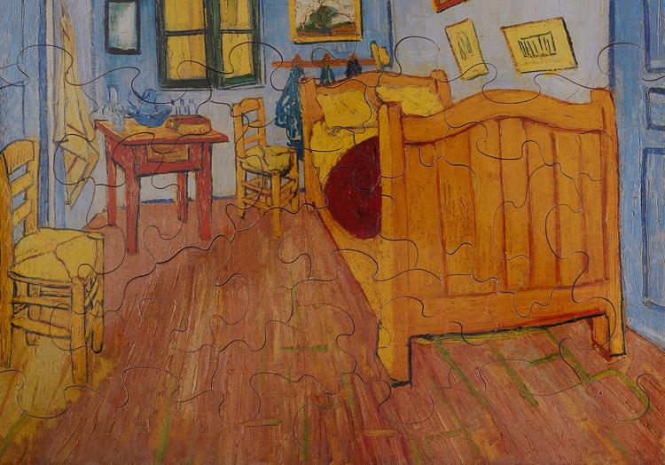 Vincent Van Gogh La Chambre A Arles Art Wooden Puzzle 24 Pieces