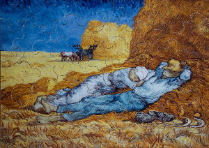 Jigsaw puzzles for Kids Van Gogh : Noon rest