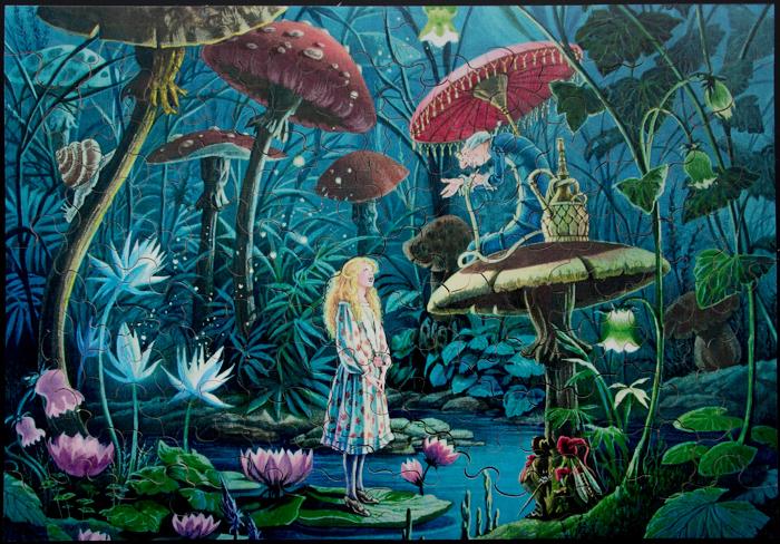 Puzzles en bois pour enfants florence magnin alice au pays des merveilles - Montre alice au pays des merveilles ...