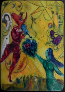 Jigsaw puzzles for Kids Marc Chagall : La danse
