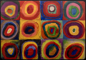 Jigsaw puzzles for Kids Vassily Kandinsky : Squares and concentric circles