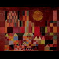 Paul Klee wooden puzzle for kids : Castle and Sun