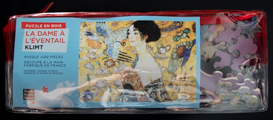 Gustav Klimt wooden puzzle case for kids : Lady with fan