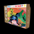 Franz Marc wooden puzzle case for kids : The blue horse