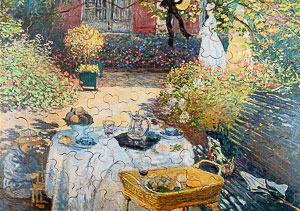 Jigsaw puzzles for Kids Claude Monet : The Lunch
